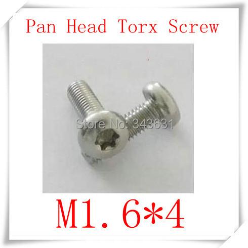 100PCS High Quality Stainless Steel 304 M1.6*4  (Hexagon lobular socket) Pan Head Torx Machine Screw<br><br>Aliexpress
