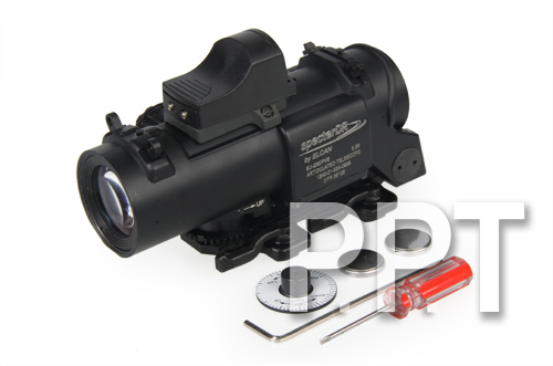 4x fixed dual role scope w/ mini red dot, black  hunting shooting<br><br>Aliexpress