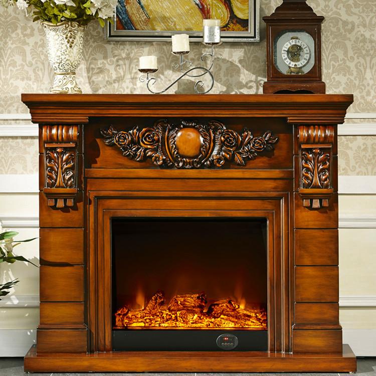 Chimenea de madera mantel con relleno de la chimenea - Madera para chimenea ...