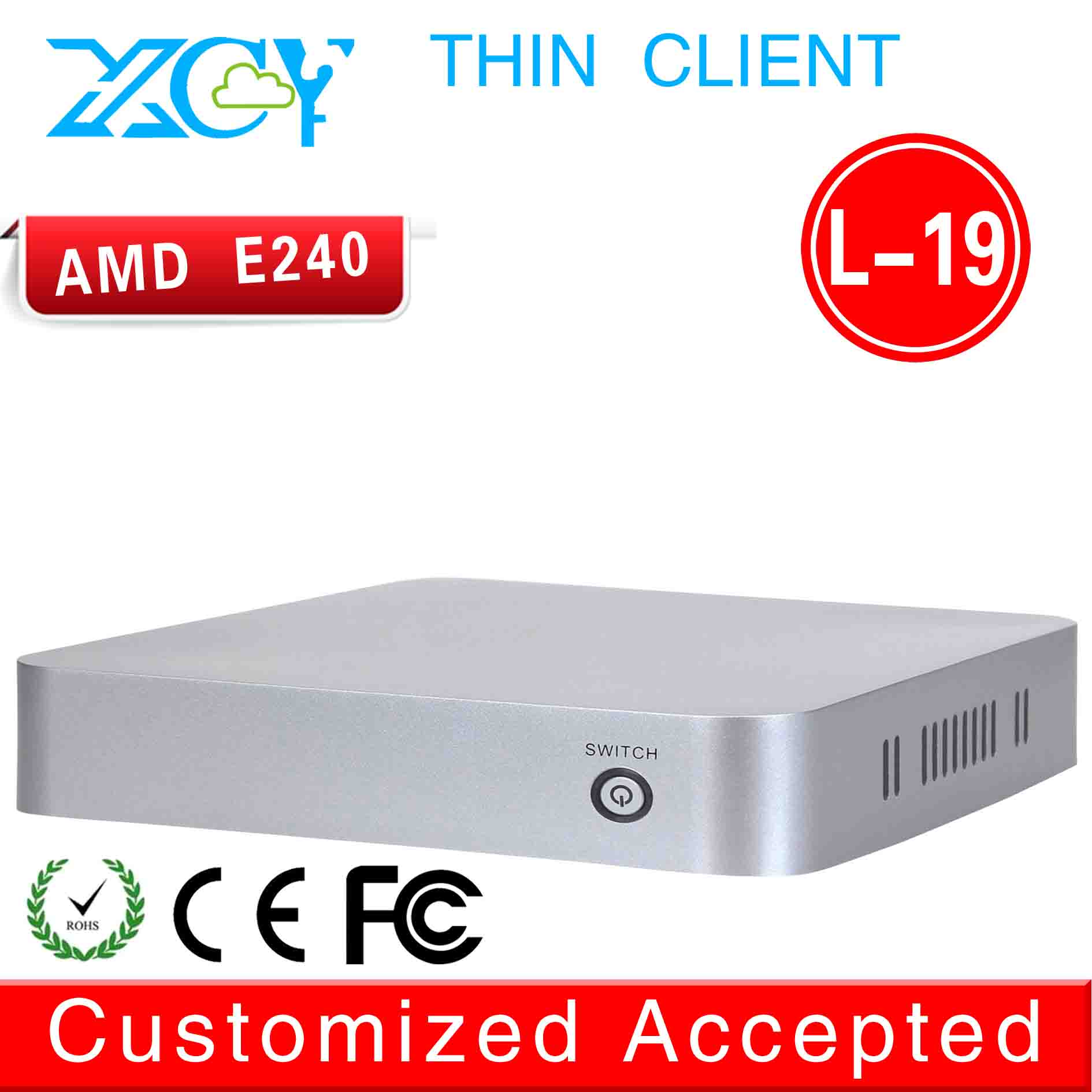 XCY HTPC Itx Case Mini Itx Case Mini Computer L-19 E240 1.5GHZ Support 3G and WiFi (LBOX-525) Promotional Price THIN CLIENT(China (Mainland))