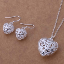 Free Shipping Promotion Silver plated Jewelry Sets Earring 316 + Necklace 335 /bqcakhja epaangha AS236(China (Mainland))