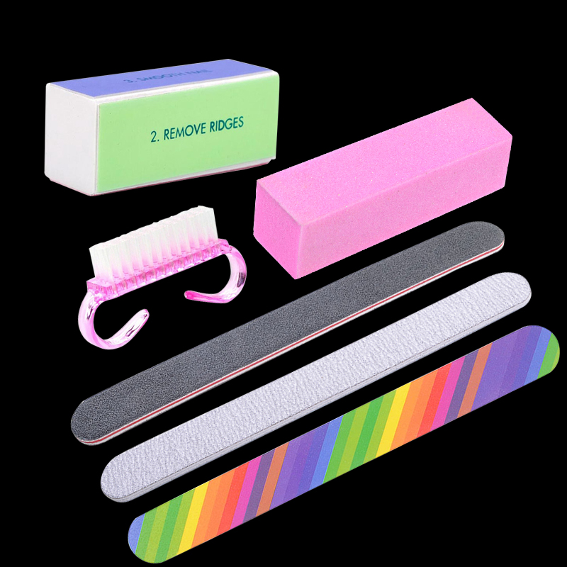 Belen Set For Nail Manicure Kit Nail Files Brush Durable Buffing Grit Sand Fing Art Accessories Sanding File UV Gel Polish Tools(China (Mainland))