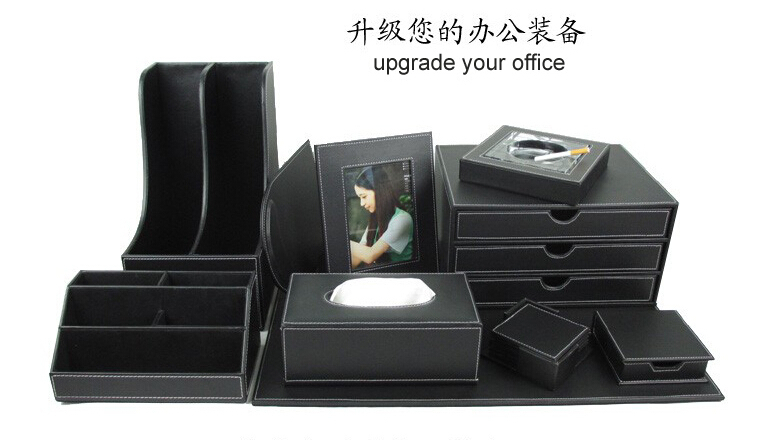 10PCS /set leather office desk file stationery accessories & organizer holder auriculares mouse pad organizador oficina TZ009(China (Mainland))