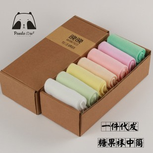 2015 Women's solid color spring day combed cotton in gift box(China (Mainland))