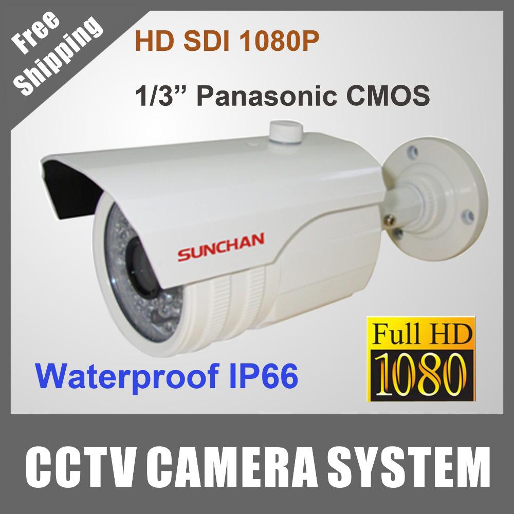 SunChan Full HD 1080P HD SDI Camera 1/3 Panasonic CMOS 2.1 Megapixel 1200TVL IR Bull