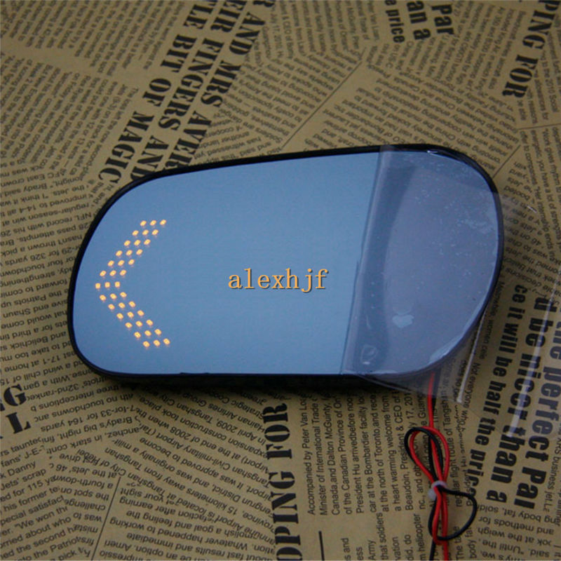 Rearview Mirror Lens Case for MAZDA M3 M6 2006~12, Large Field Of Vision, Blue Mirror, LED Turning Lights, Heat Demisting<br>