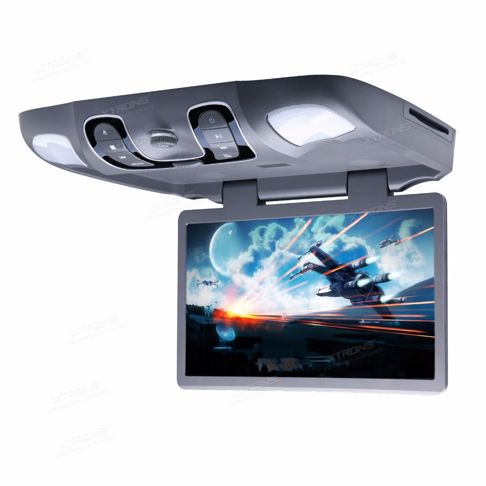 "15.6"" Gray Color Flip Down Car DVD Roof Car DVD Roof Monitor Car DVD with 2 IR/FM Headphones & Slot Load DVD Drive Design(China (Mainland))"