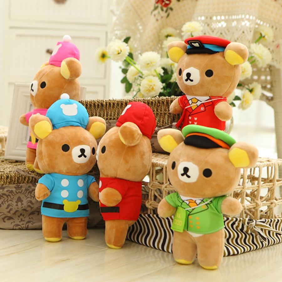 Lovely U.S. Hooded Rilakkuma Plush Toy 23CM Stuffed Cartoon Anime Dolls Children Baby Stuffed Toys For Kids Gift(China (Mainland))