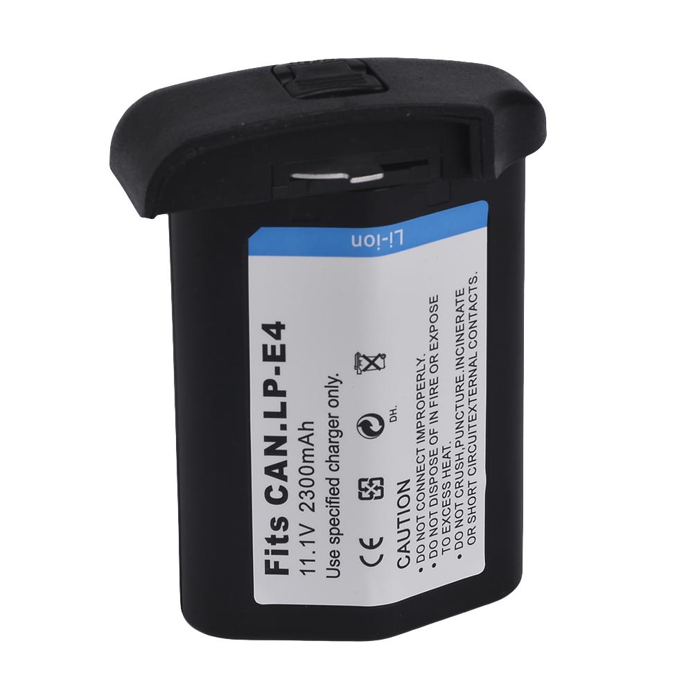 2300mah LP-E4 Batteries PACK LP E4 LPE4 Camera Battery For Canon EOS 1D 1Ds Mark III IV 1DX 1Ds3 1D3 1D4(China (Mainland))