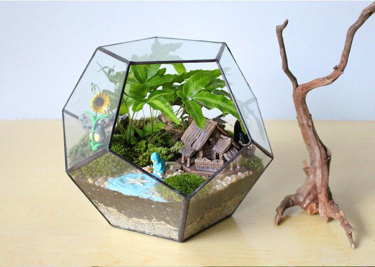 mini jardins no vidro:Mesa terrario e vidro vaso para decoração de casamento e casa, Mini