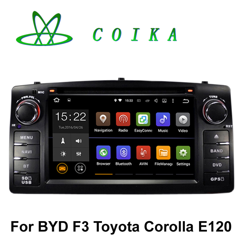Quad Core Android 5.1 Head Unit Car Radio DVD For BYD F3 Toyota Corolla E120 2003-2006 WIFI 3G 1080P MP3 MP4 Multimedia Player(China (Mainland))