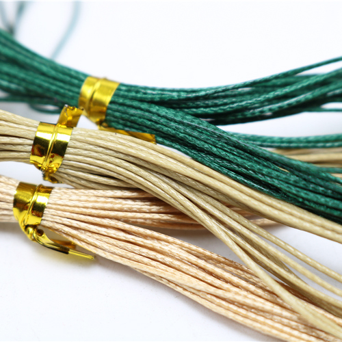 0.5mm Korea rope * 4M wax string holes jade beads wire rope Ock diy rope necklace wax cord Jewelry Findings & Components TP2037(China (Mainland))
