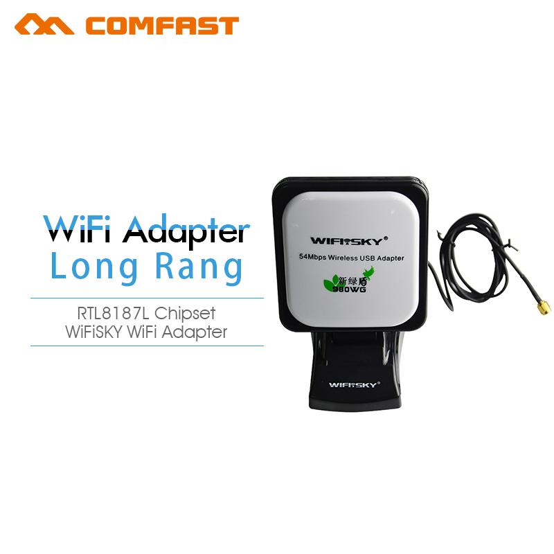High power wifi usb adapter WIfi sky WS-G6100 wireless antenna signal long range wifi adapter(China (Mainland))