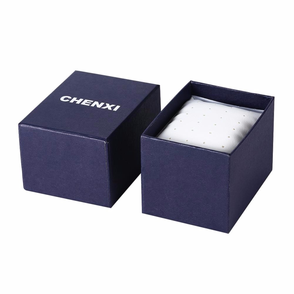 CHENXI Brand Watch Box Good Quality Blue White Paper Box With Small pillow 2 Colors(China (Mainland))