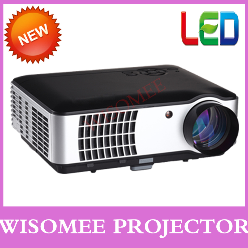 Amazing diaplay giant screen cinema led tv projector 3D effect smart proyector LCD projector for jogos games xbox freeshipping(China (Mainland))