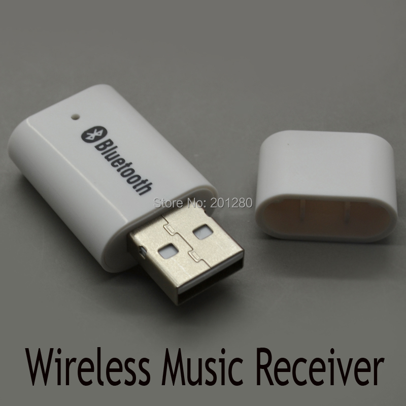 10pcs/lot PT-810 Wireless Audio Bluetooth Music Receiver Adapter USB Stereo Music Receiver For Iphone Ipad Free Shipping