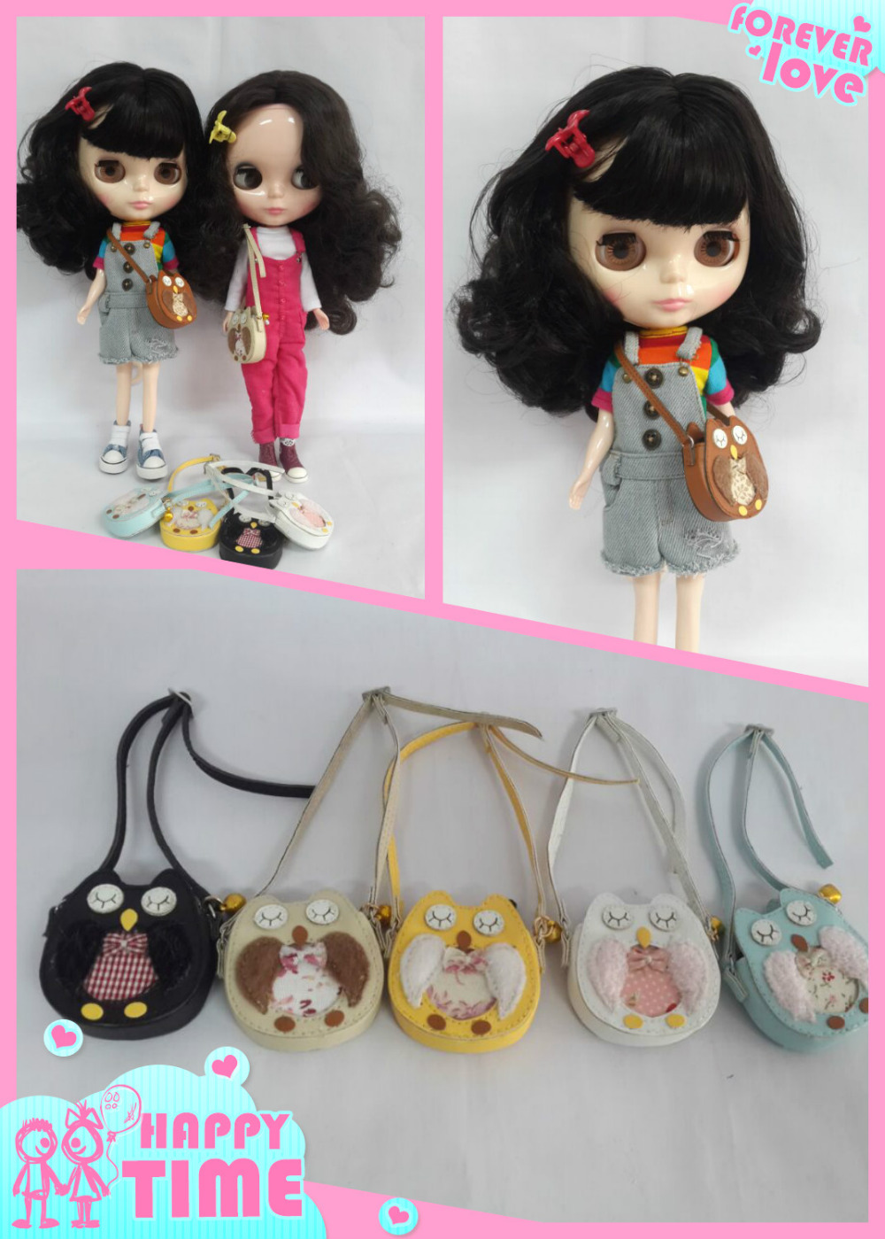 bags for BLYTH doll,ICY,JC5,Licca dolls(6 colors)(China (Mainland))