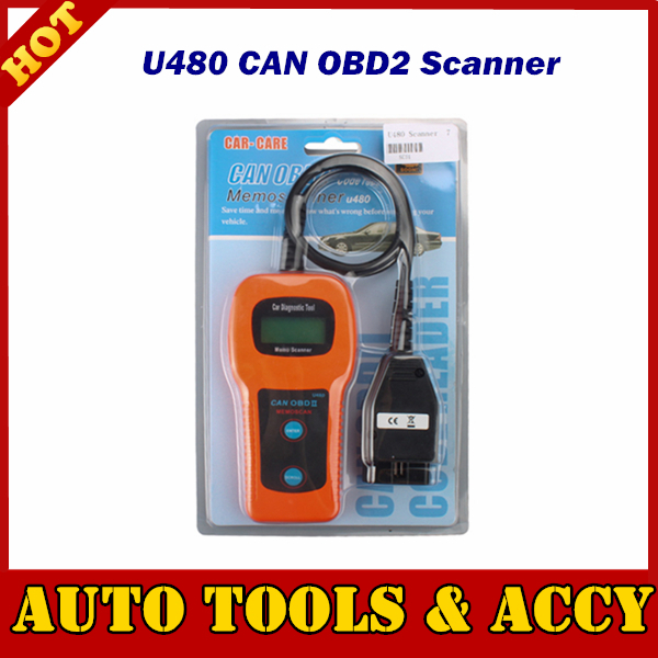 Brazil Free Shipping Memoscan U480 OBD2 CAN BUS & Engine Code Reader Scanner Works on all OBDII/EOBD compliant vehicles(China (Mainland))