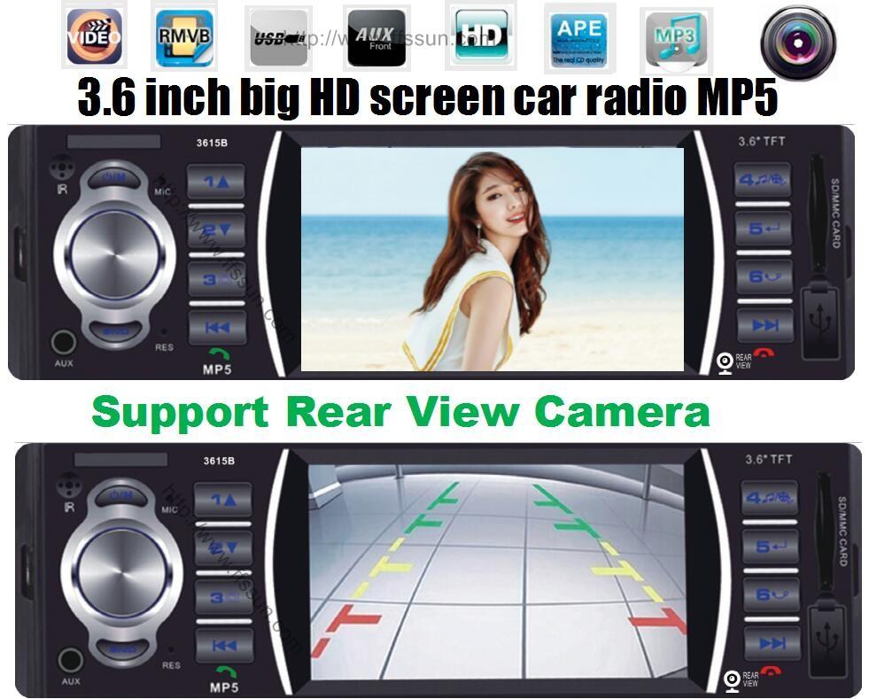 12V Car audio stereo MP5 Player Car Radio 4.0 HD autoradio Bluetooth /Rear view/MP3/MP4/Audio/Video FM Receiver auto radio 1 din(China (Mainland))