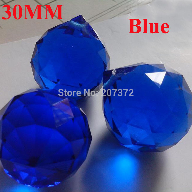 Top quality 30pcs/lot 30mm crystal Blue chandelier Ball,crystal chandelier parts For Crystal Light, Free Shipping<br><br>Aliexpress