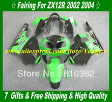 Buy Custom 2002 KAWASAKI Ninja ZX12R 02 05 Fairings ZX 12R 2002 2005 ZX-12R 12R 02 03 04 05 Green black Motorcycle KH28 for $356.25 in AliExpress store