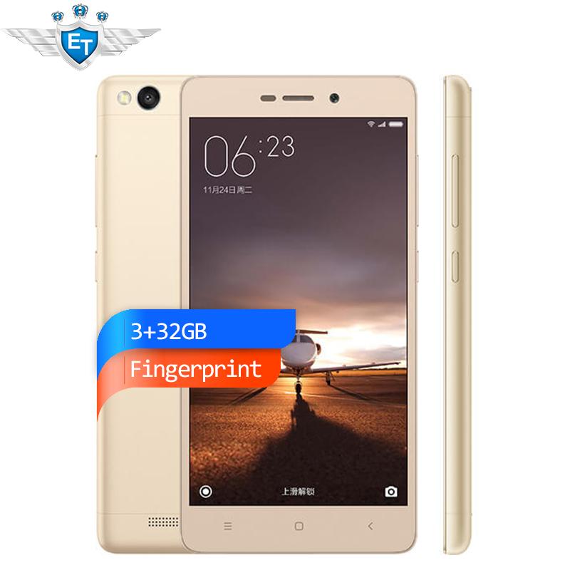 Original Xiaomi Redmi 3 Pro Prime 3G RAM 32G ROM Fingerprint Metal Body 4100 mAh Snapdragon 616 Octa Core FDD LTE Cell Phone(China (Mainland))