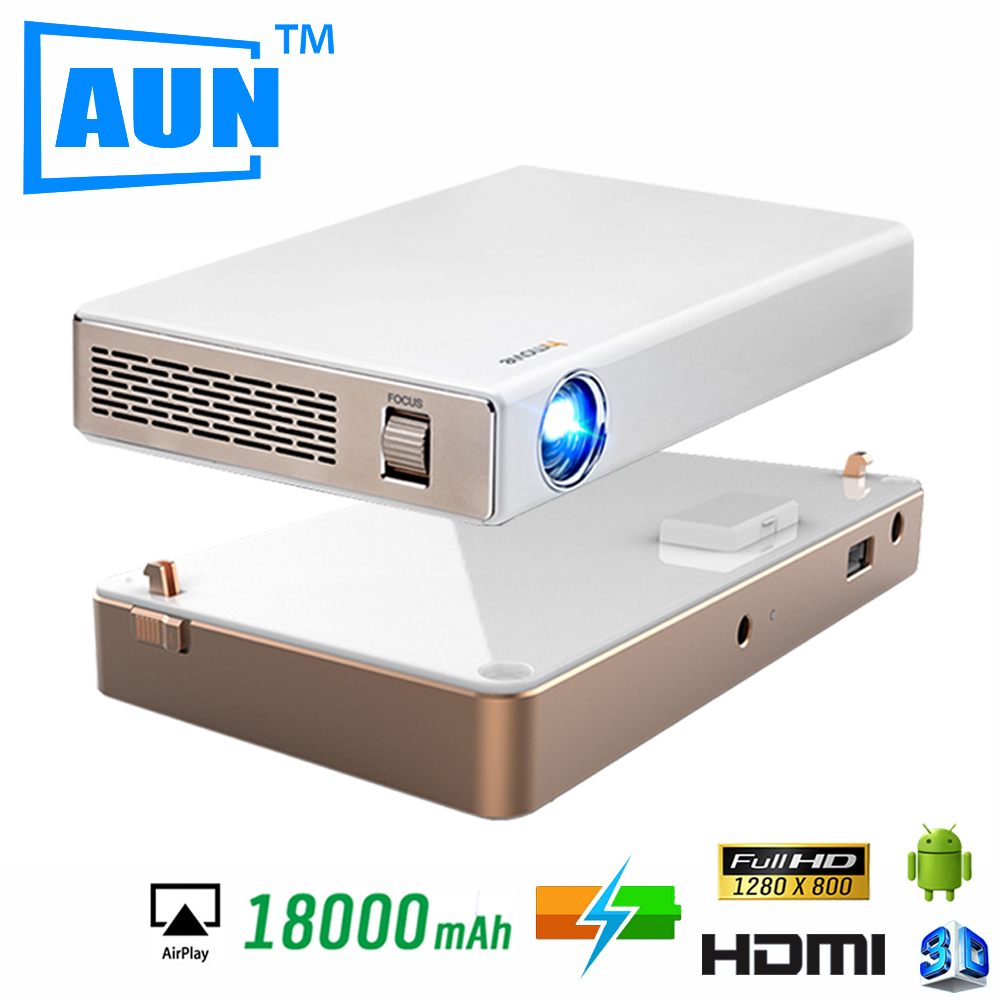 Newest 3D Projector Built-in Android OS 4.2 HD Projector +Dedicated Power Bank Charging Base for Home Cinema LED Projector V5SG5<br><br>Aliexpress
