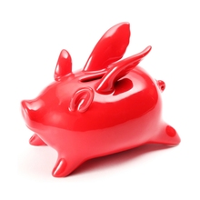 Original xiaomi flying small piggy money boxes pig shote bank home decoration birthday party gift
