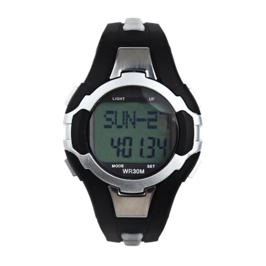 2016 New Digital Waterproof Pedometer Calories Counter Heart Rate Monitor Sport LED Watch With Good Design For Perfect Gift RV(China (Mainland))