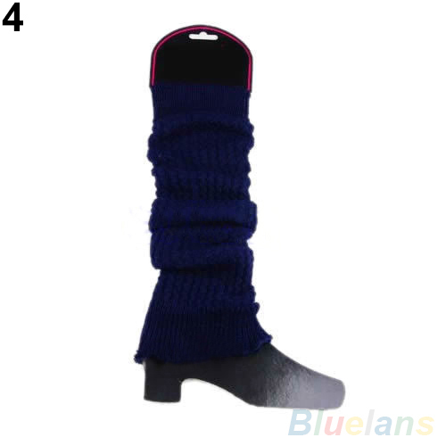 Women Winter Leg Warmers Long Knit Crochet Legging Boot Cover Stockings 1Q8Z 2U17