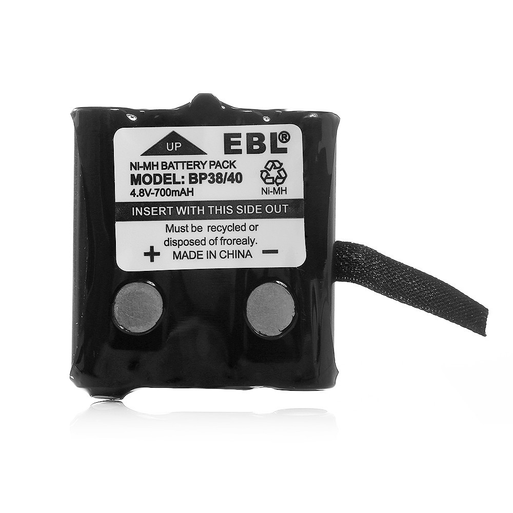 2 Pack EBL 2-Way Radio Battery 700mAh 4.8v Replacement Battery For Uniden Cordless Phone BP-38 BP-40 380 380-2 680 GMR FRS