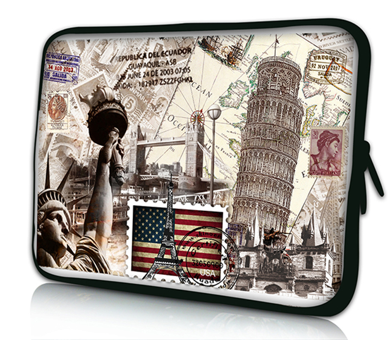 """Stamp 10""""Netbook Laptop Sleeve Bag Case Cover Pouch For 10.1"""" ASUS Eee Pad TF10 Tablet PC for iPad Air 1 Air 2(China (Mainland))"""