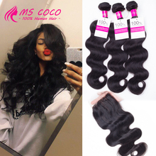Weave With Closure Peruvian Virgin Hair With Closure Rosa Hair Products With Closure 8A Peruvian Virgin Hair With Lace Closure(China (Mainland))