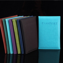 New Fashion PU Card Holder Women Travel Passport Holder Business Passport Cover ID Credit Card Holder Men Passport Wallet