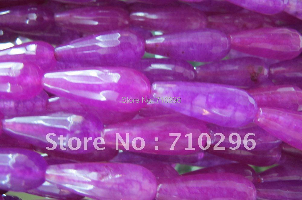 5strings/lot Ruby Jade 10*28 mm Faceted Gemstone Jade Beads Jewelry Making.Free shipping