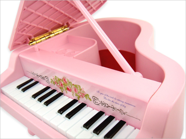 Music Box Gifts Korean version of the lovely delicate color multifunctional creative jewelry box piano music box jewelry # 6111(China (Mainland))