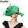 Summer Hats for Women Solid Satin Feather Floral Wide Brim Sun Hats Ladies Floppy Hats for