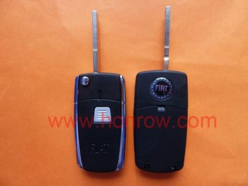 Hot selling Fiat 1 button filp down remote key blank with flat blade & car key blanks