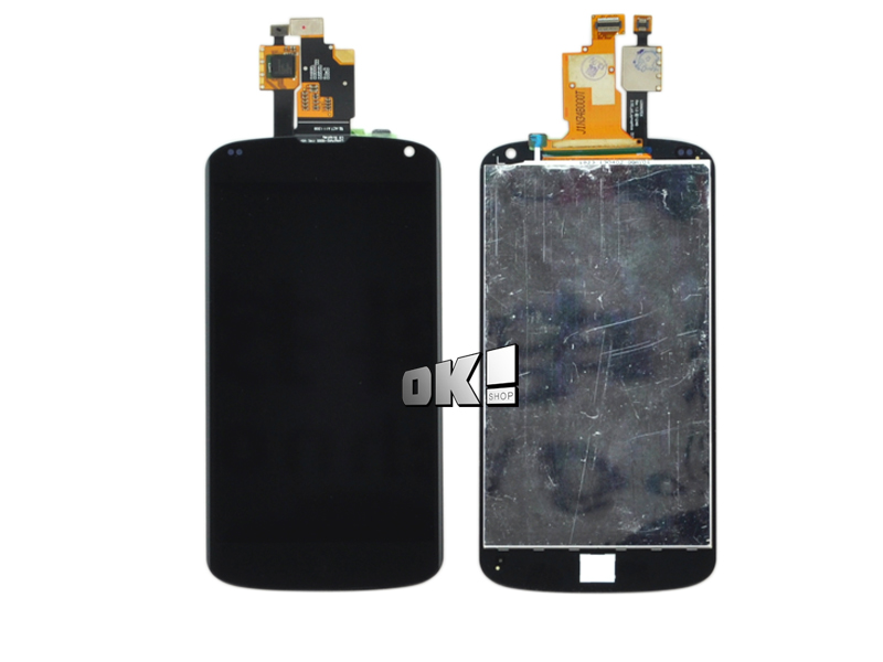 Free shipping 10 pcs/lot For LG Optimus Google Nexus 4 E960 LCD Display Touch Screen Digitizer Full Assembly