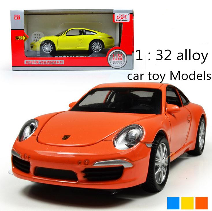 World model cars toy ! 2014 Hot sale !1 : 32 alloy Sound and light pull back car toy Models,free shipping,3 open door(China (Mainland))