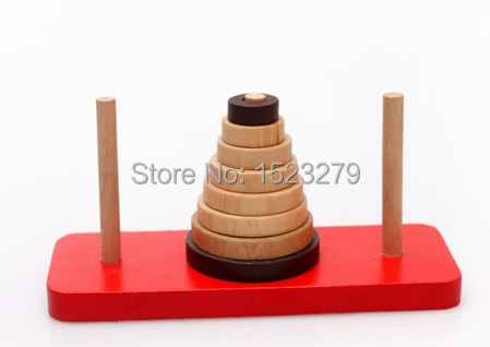 Classical Indian wooden toys puzzle casual tower hanor desktop toys Adult and children's educational toys(China (Mainland))