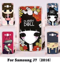 Colorful Puppet Doll Cute Case For Samsung Galaxy J7 2016  Lovely Ghost babyRetro Style illustration Girl Cover