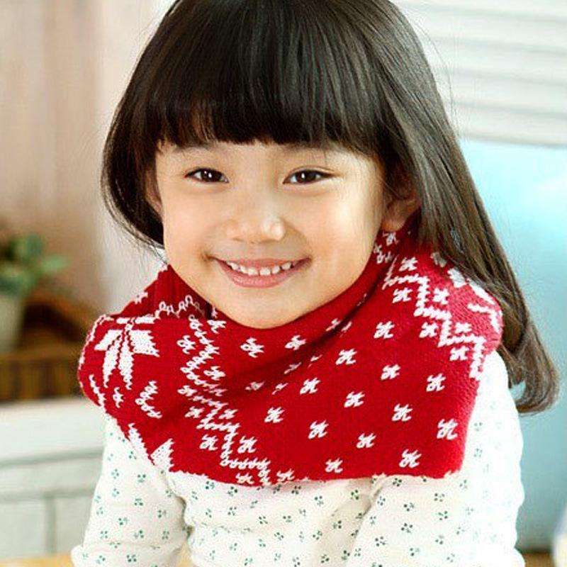 2015 Korean children spring Dongkuan snowflake scarf good performance fabrics beautiful and practical outdoor headgear(China (Mainland))