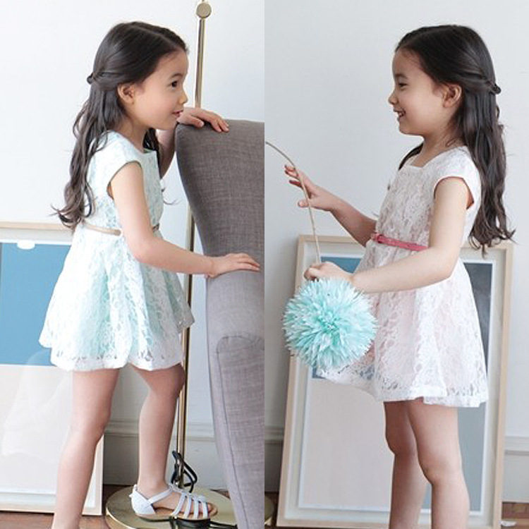 2015 New Lace Chiffon Ruffle Mother Daughter Dresses Summer Girls Fashion Baby Tutu Clothing Toddler Cloth Princess(China (Mainland))