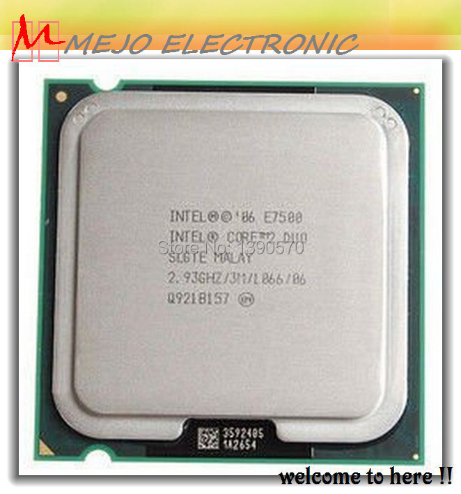 Best quality E7500 For Intel Core 2 Duo Desktop CPU SLGTE 3M Cache, 2.93 GHz, 1066 MHz FSB 775pin,45nm ( MEJO' s recommend)(China (Mainland))