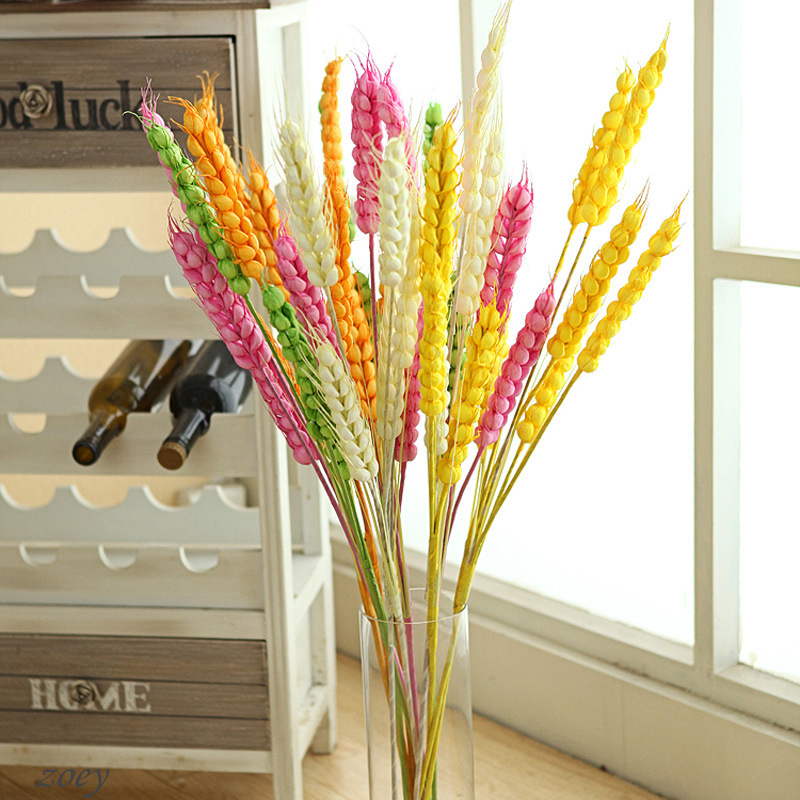 Free Shipping 10PCS/lot High Quality Environmental Protection Artificial Wheat Ears Flowers for Home Decoration(China (Mainland))