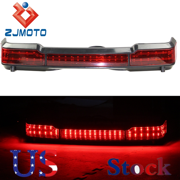 ZJMOTO High Quality Superrmoto Motorcycle Lightweight Black ABS LED Tail Light Brake Lamp For Classic Ultra King Tour Pack(China (Mainland))