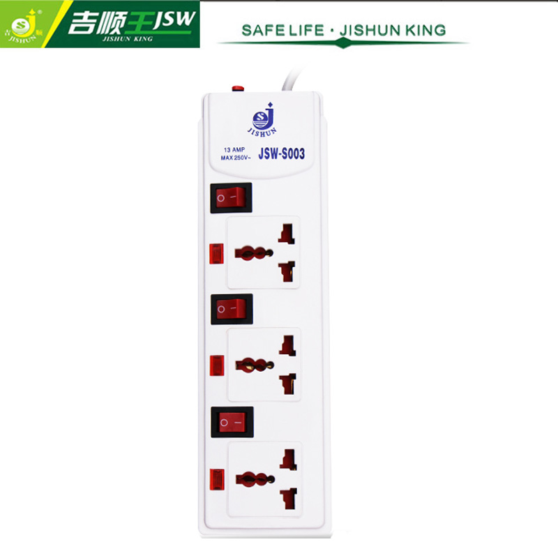 Retail 3 Gang Power Extension Socket Board 220V Universal Outlet Individual Switch Electrical Plugs Socket Overload Protector(China (Mainland))