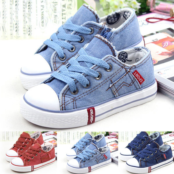 2015 New Summer Style Girls Boys Children Canvas Shoes Lace-Up Fashion Casual Sneakers Rubber Soles Breathable Kids Flats Shoes(China (Mainland))