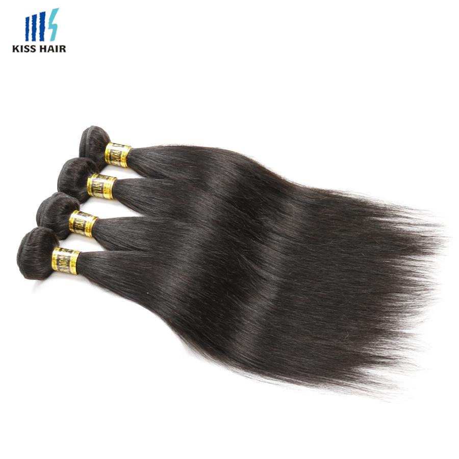 4 Bundles Peruvian Straight Virgin Hair Silky Straight Hair Weave Peruvian Virgin Hair Straight Human Hair Kiss Hair Fashion